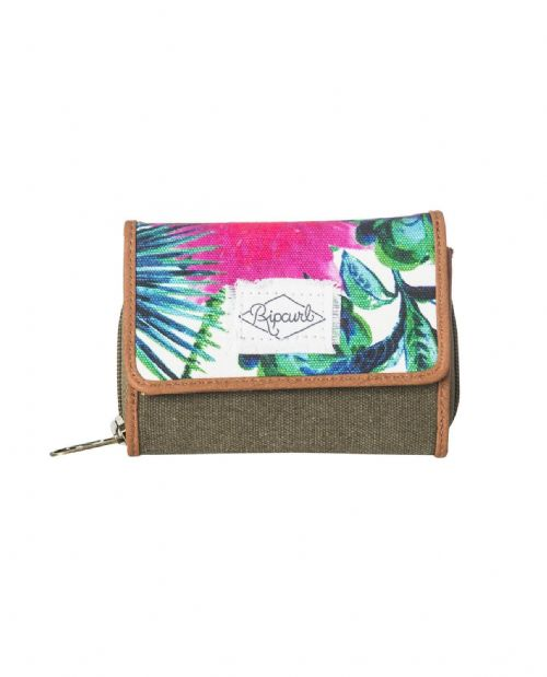 RIP CURL WOMENS PURSE.NEW FRESNO FLORAL SMALL MONEY CARD COIN WALLET 8S X4 3859